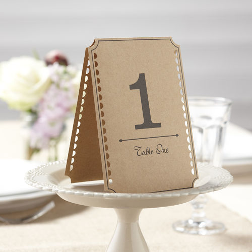 Vintage Style Table Number Cards - 1 to 12