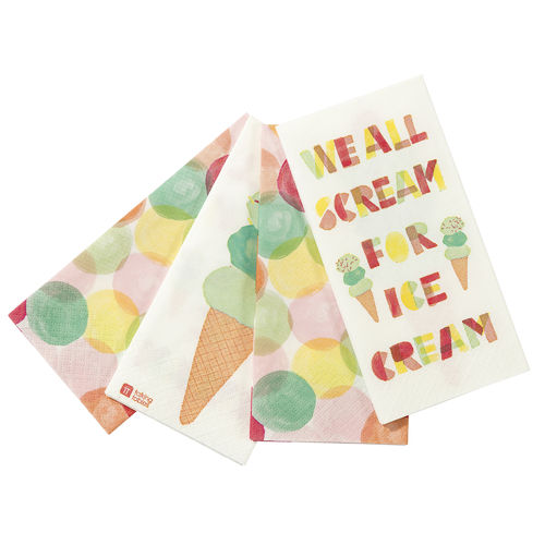 Ice Cream Napkins - Duo Pack