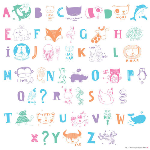 Letter Pack for Lightbox - Kids ABC Pastel