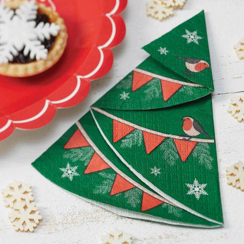 Christmas Tree Shaped Paper Napkins