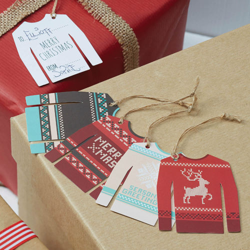 Christmas Jumper Gift Tags x 12