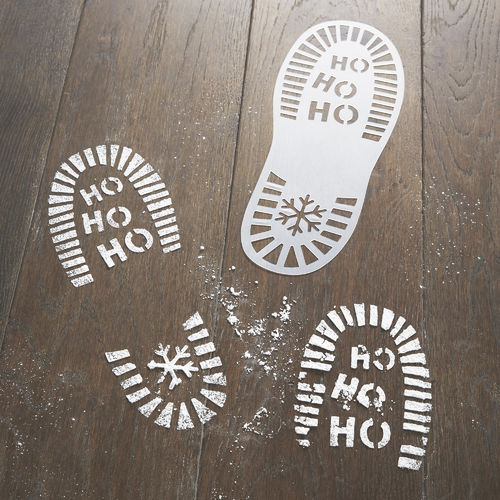Father Christmas Boot Print Stencils