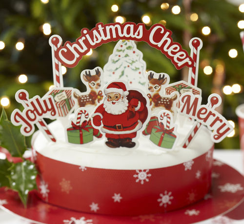 Christmas Cake Decoration Set