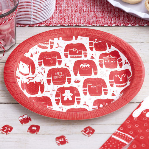 Christmas Jumper Paper Plates