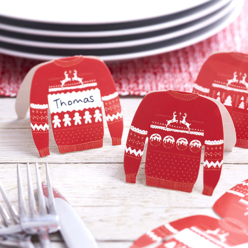 Christmas Jumper Place Name Cards