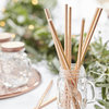 Metallic Rose Gold Paper Straws x 25
