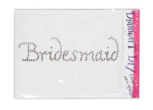 Diamon'T Bridesmaid Diamante Motif