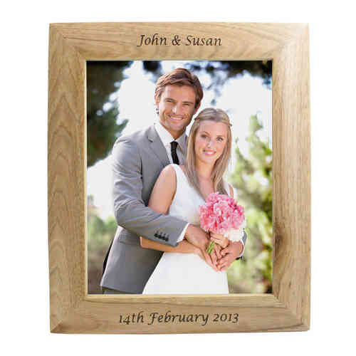 Personalised Wooden Frame - 10x8