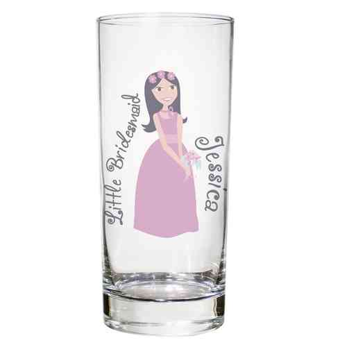 Personalised Glass for Bridesmaid or Flower Girl
