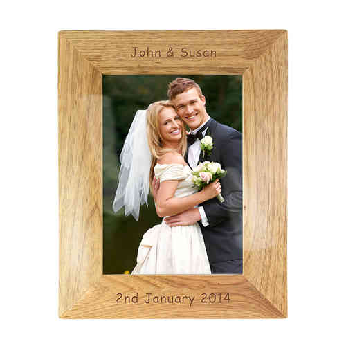 Personalised Wooden Frame - 5x7