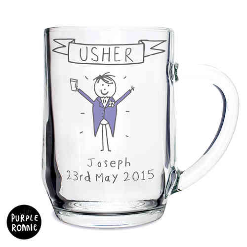 Purple Ronnie Personalised Male Wedding Tankard