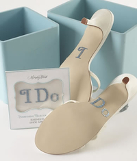 'I Do' Rhinestone Shoe Applique Stickers