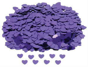 Purple Hearts Table Confetti