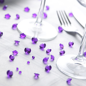 Table Crystals - Purple