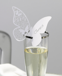 Butterfly Place Cards - White