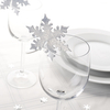 Shimmering Snowflake Place Cards - Silver