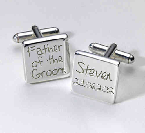 Father of the Groom Personalised Cufflinks
