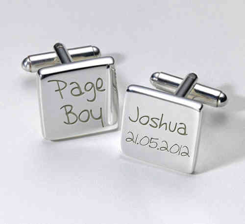 Page Boy Personalised Cufflinks