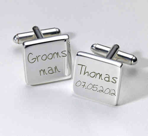 Groomsman Personalised Cufflinks