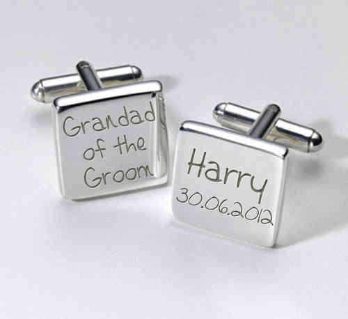 Grandad of the Groom Personalised Cufflinks