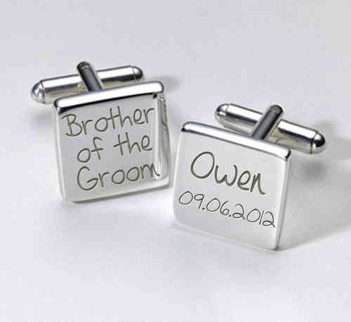 Brother of the Groom Personalised Cufflinks