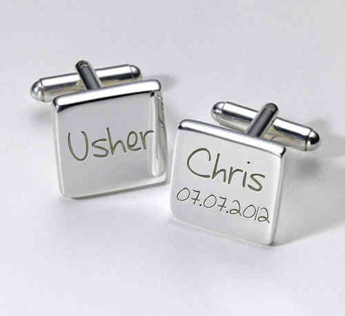Usher Personalised Cufflinks