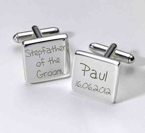 Stepfather of the Groom Personalised Cufflinks