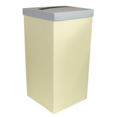 Ivory Post Box With Blue Lid