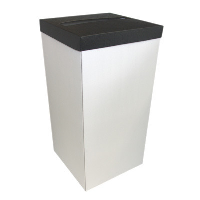 White Post Box With Black Lid
