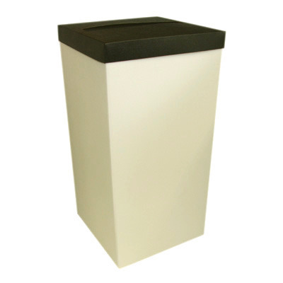 Ivory Post Box With Black Lid