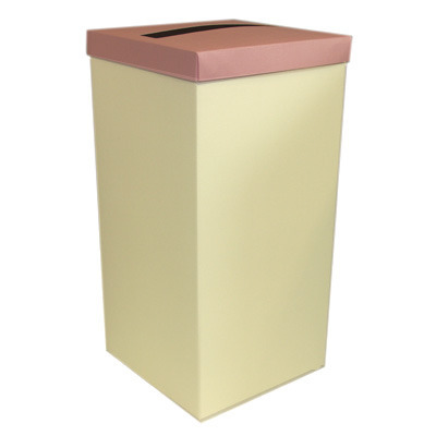 Ivory Post Box With Pale Pink Lid