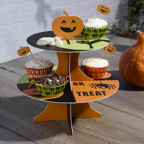 Happy Halloween Reversible Cake Stand