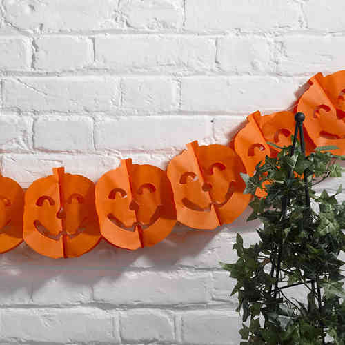 Happy Halloween Pumpkin Garland