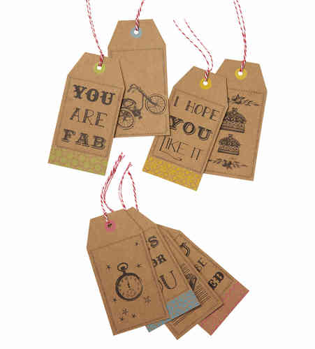Retro Style Gift Tags