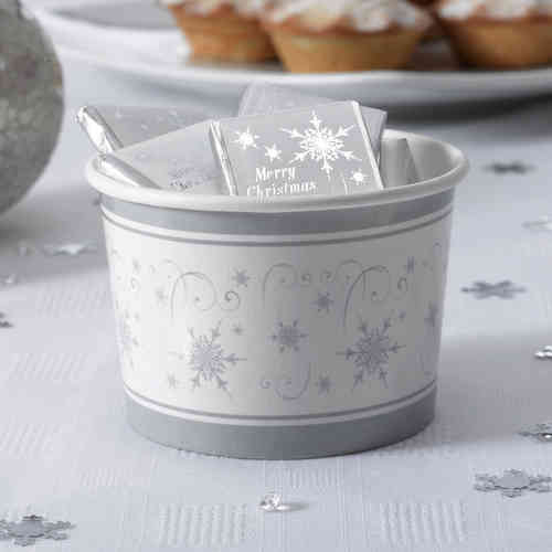 Shimmering Snowflake Treat Tubs