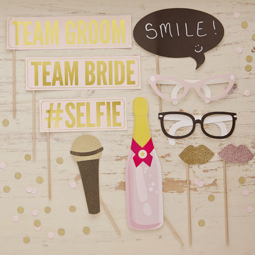 Pastel Wedding / Hen Party Photo Booth Props