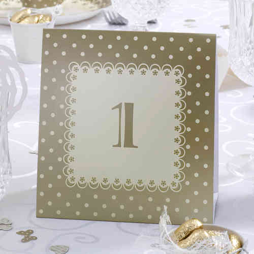Chic Boutique Table Numbers - Gold & Ivory