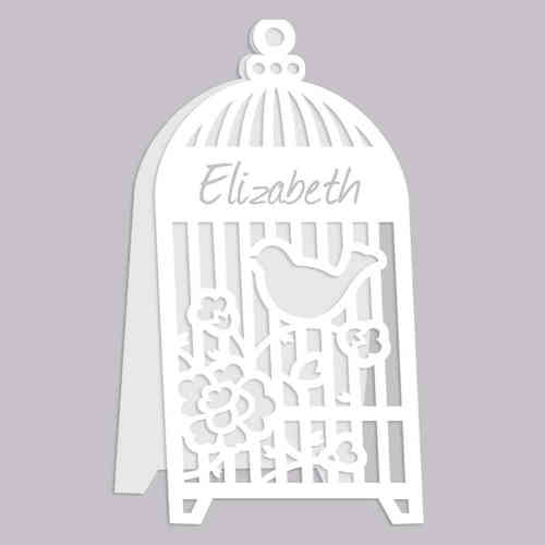 Birdcage Place Name Cards