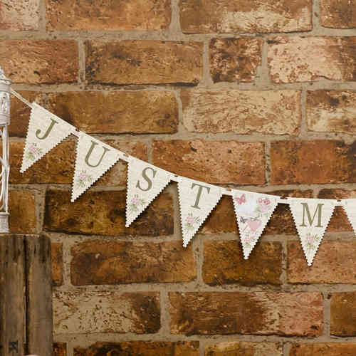 With Love - Just Married Bunting