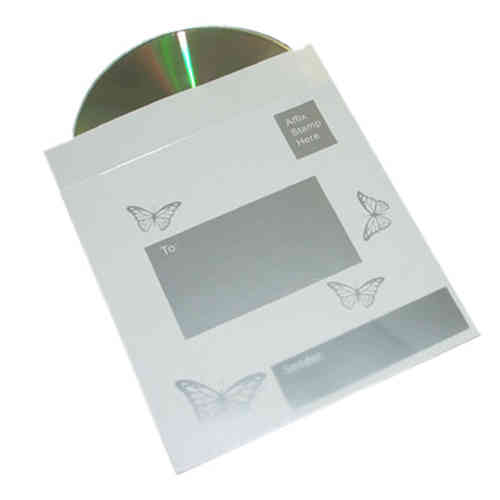 Photo CD & Sleeve - White & Silver Butterflies