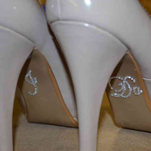 'I Do' Wedding Shoe Stickers - Clear