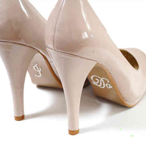 'I Do' Wedding Shoe Stickers - Pearl