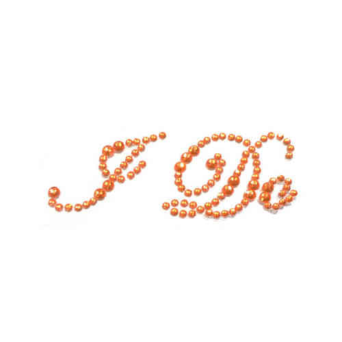 'I Do' Wedding Shoe Stickers - Orange