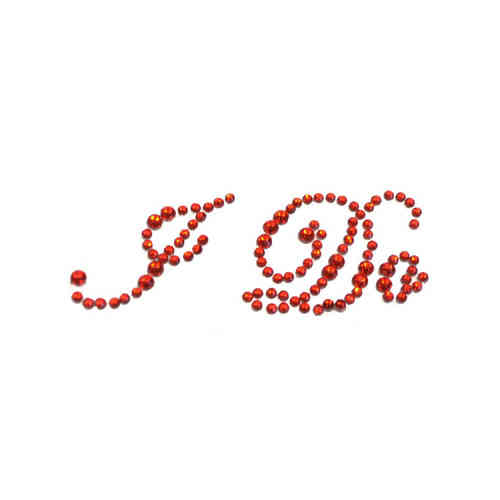 'I Do' Wedding Shoe Stickers - Red