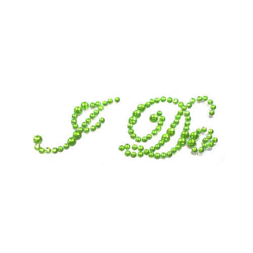 'I Do' Wedding Shoe Stickers - Light Green
