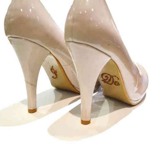 'I Do' Wedding Shoe Stickers - Bronze/Brown