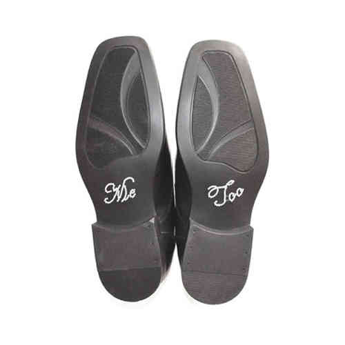 'Me Too' Wedding Shoe Stickers - Clear