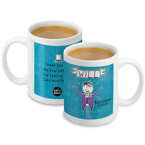 Purple Ronnie Personalised Male Wedding Mug