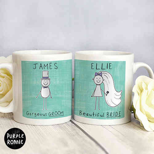 Purple Ronnie Personalised 'Mr & Mrs' Mugs