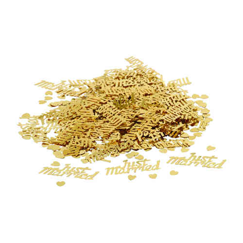 Gold Just Married Table Confetti